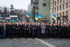 Marzec godność w Kyiv Obraz Stock