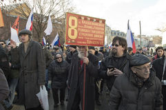 Marzec ku pamięci Boris Nemtsov 27 2016 Luty Obrazy Stock