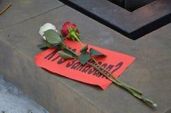 Marzec ku pamięci Boris Nemtsov w St Petersburg Obrazy Stock