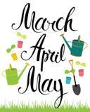 Marzec, Kwiecień, May ilustracja wektor
