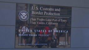 Marzec 18, 2019 meksykanin granica przy San Ysidro Kalifornia, KALIFORNIA -, usa - zbiory wideo