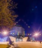 Marzec 24, 2018 Minsk Białoruś: Ziemska godzina fotografia royalty free