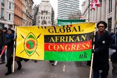 Marzec Przeciw rasizm Krajowej demonstraci Londyn, Zjednoczone Królestwo - obrazy royalty free