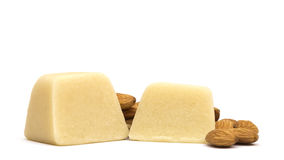 Marzipan with Almonds Stock Photo
