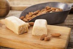 Marzipan and almonds Stock Photos