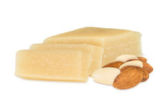 Marzipan with almonds Stock Photos