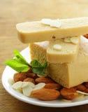 Marzipan almonds bread , wish  almond Stock Photography