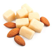 Marzipan with almonds Royalty Free Stock Image
