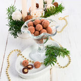 Marzipan ball Royalty Free Stock Image