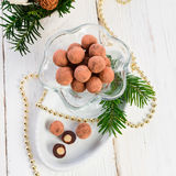 Marzipan ball Royalty Free Stock Images