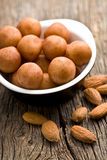 Marzipan balls and almonds Stock Photography