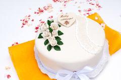 Marzipan birthday cake Stock Photo