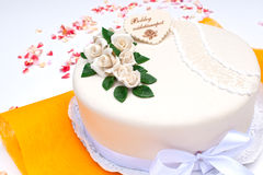 Marzipan birthday cake Stock Image