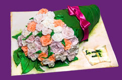 Marzipan bouquet cake Royalty Free Stock Image