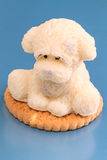 Marzipan cake as a puppy Stock Image
