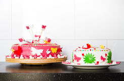 Marzipan cakes for a birthday party Stock Photography