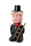 Marzipan chimney-sweep. Isolated on white background Royalty Free Stock Images