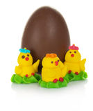 Marzipan and chocolate egg Stock Photos