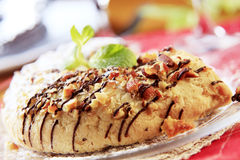 Marzipan crescent cookie Stock Photography