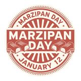 Marzipan Day, January 12. Rubber stamp, vector Illustration vector illustration