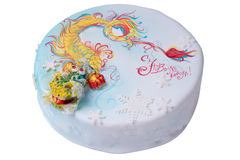 Marzipan Dragon cake Stock Photo