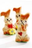Marzipan easter bunnies, figurines Stock Image