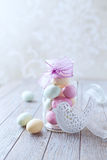 Marzipan Easter Eggs in a Jar Royalty Free Stock Image