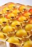 Marzipan eggs Stock Photos