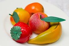 Marzipan fruit  Stock Image