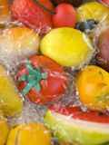 Marzipan fruit. One of the Sicilian specialty fruit marzipan Stock Photos