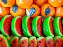 Marzipan Fruits Stock Images