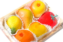 Marzipan fruits Royalty Free Stock Photos
