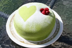 Marzipan gateau with rose Royalty Free Stock Photo