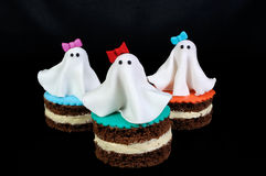 Marzipan ghosts on the cake Stock Image