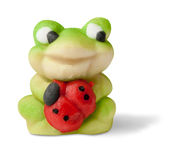 Marzipan good-luck frog Stock Photo