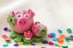 Marzipan pig Stock Photo