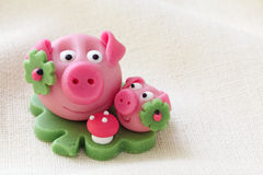 Marzipan pig Royalty Free Stock Photography