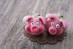 Marzipan pig Royalty Free Stock Images