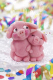 Marzipan pigs Stock Photos