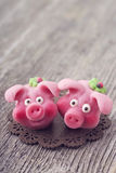 Marzipan pigs Royalty Free Stock Photo