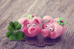 Marzipan pigs Royalty Free Stock Images