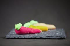 Marzipan shaped fruits Stock Photo