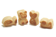 Marzipan shapes Royalty Free Stock Photography