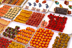 Marzipan shapes Stock Image