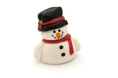 Marzipan snowman Stock Photo