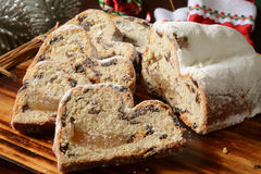 Marzipan stollen Stock Photography