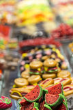 Marzipan and Sweet Stall. At Mercat de Sant Josep. Barcelona, Spain Stock Photo