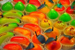 Marzipan sweets royalty free stock images
