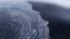 Marznący mydlanego bąbla zakończenie, zima wakacji tło, zbiory wideo