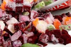 Marznący mieszani warzywa zdjęcie stock